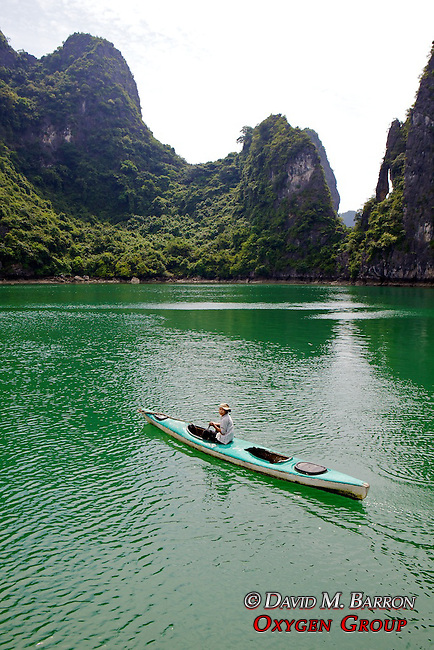 Kayaker On Halong Bay
