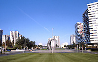 Paris: Creteil--center strip. Sculpture by J. Cardot, 1975.