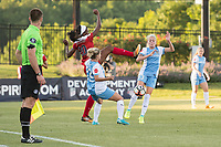 Boyds, MD - Saturday June 03, 2017: Cheyna Williams, Rachel Daly, Camille Levin during a regular season National Women's Soccer League (NWSL) match between the Washington Spirit and Houston Dash at Maureen Hendricks Field, Maryland SoccerPlex.