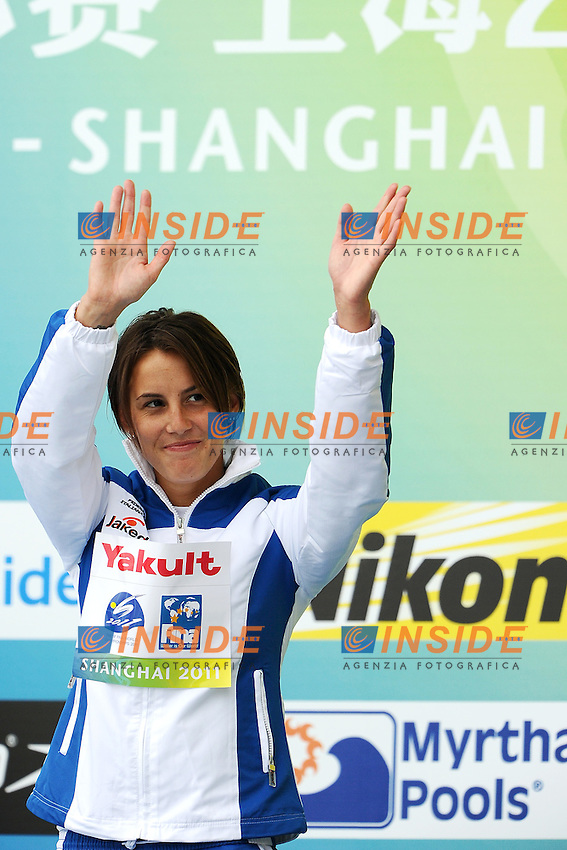Tania CAGNOTTO Bronze medal.Women's 1m Springboard - Trampolino 1m Donne..Shanghai 19/7/2011 .14th FINA World Championships.Foto Andrea Staccioli Insidefoto