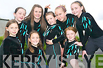 READY FOR ACTION: The Gymnasts from the Aerial's Gymnastics Club in Listowel who are travelling to competition finals in Mosney this week. Front l-r: Leah Henry, Ava Looney, Grace McIntyre and Kate Maher. Back l-r: Aoife Clifford, Emma Sheehy, Charlie-Ann Walsh and Bridget Sheehan.   Copyright Kerry's Eye 2008