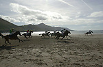 9-9-01 GLENBEIGH RACES ON THE BEACH...<br />They're off... in the featured 'Griffin Cup' at Glenbeigh Races on Sunday. The annual races on the beach at Rossbeigh Strand attracted record numbers in glorious sunshine.<br />Picture by Don MacMonagle