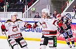 S&ouml;dert&auml;lje 2014-10-23 Ishockey Hockeyallsvenskan S&ouml;dert&auml;lje SK - Malm&ouml; Redhawks :  <br /> Malm&ouml; Redhawks Frederik Storm firar sitt 3-1 m&aring;l med Henrik Hetta under matchen mellan S&ouml;dert&auml;lje SK och Malm&ouml; Redhawks <br /> (Foto: Kenta J&ouml;nsson) Nyckelord: Axa Sports Center Hockey Ishockey S&ouml;dert&auml;lje SK SSK Malm&ouml; Redhawks jubel gl&auml;dje lycka glad happy