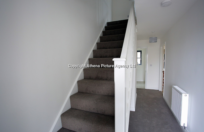 Pictured: Interior view of the hallway in one of the affordable homes. Wednesday 26 April 2017<br /> Re: Waterstone Homes' most recent property development Howell's Reach, is in Derwen Fawr, Swansea and is made up of 13 luxury family homes, and also includes five affordable homes.