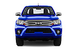 Car photography straight front view of a 2017 Toyota Hilux Comfort 2 Door Pickup Front View