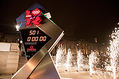 Unveiling ceremony of Omega Olympic Games countdown clock.