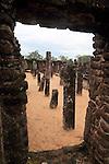 UNESCO World Heritage Site,  ancient city  Polonnaruwa, Sri Lanka, Asia, Buddha Seema Pasada building, Alahana Pirivena complex
