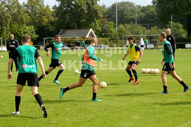 NORG - Voetbal, Trainingskamp FC Groningen, voorbereiding seizoen 2018-2019, 10-07-2018,  FC Groningen speler Samir Memisevic en FC Groningen speler Ritsu Doan