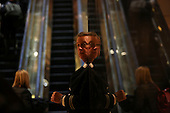 A Fire marshall, in the lobby of the Trump Tower, while United States President-elect Donald Trump holds meetings on top floors of the building, November 21, 2016, in New York, New York.<br /> Credit: Aude Guerrucci / Pool via CNP