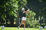 HOUSTON, TX - MAY 19: Evelyn Arguelles of Dallas Baptist University tees off during the Division II Women's Golf Championship held at Bay Oaks Country Club on May 19, 2018 in Houston, Texas. (Photo by Justin Tafoya/NCAA Photos via Getty Images)
