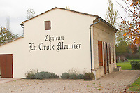 Winery building. Chateau La Croix Meunier. Saint Emilion, Bordeaux, France