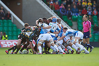 Show of strength in the packs during the Heineken Cup match between Northampton Saints and Glasgow Warriors  at Franklin's Gardens on Sunday 14th October 2012 (Photo by Rob Munro)
