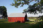 Red barn in summer, Williamsburg, Michigan, near Traverse City