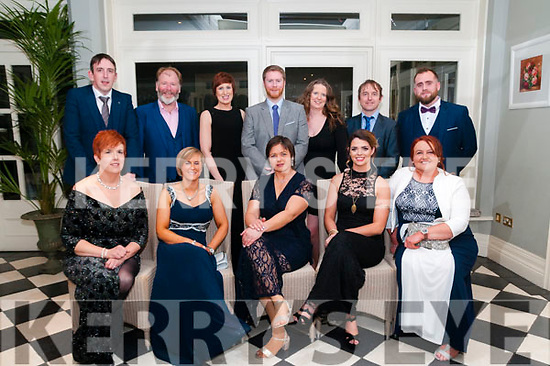 North Kerry Harriers Ball: attending the North Kerry Harriers Hunt Ball at the Listowel Arms Hotel on Saturday night last were in front Noirin Taylor, Mary Ambrose, Tracey quinn, Rachel Deane & Joanna housden. Back: Ger Ambrose , Tom Dillon, Elaire Barrett, Paul Cannon, Louise McEntee, Myles Quinn & Sean O'Connor  all from the Streamside Stables, Moyvane.