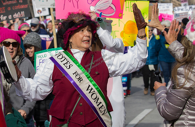Deanna Smith walks during the 3rd Annual Reno Women's March in downtown Reno on Saturday, January 19, 2019.