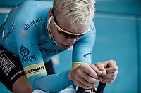 Micha&euml;l Valgren Andersen (DEN/Astana) pre race warming up. <br /> <br /> Binckbank Tour 2018 (UCI World Tour)<br /> Stage 2: ITT Venray (NL) 12.7km