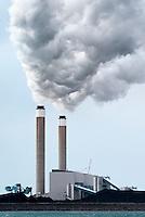 January 16, 2003; Nanticoke, Ontario, Canada; The Ontario Power Generation Nanticoke thermal powerplant along the north shore of Lake Erie.  Photo © Ron Scheffler.