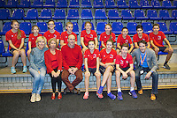 Rotterdam, Netherlands, December 20, 2015,  Topsport Centrum, Lotto NK Tennis, Ballkids<br /> Photo: Tennisimages/Henk Koster
