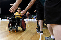 Jake Howe (AUS) vs Japan<br /> Australian Wheelchair Rugby Team<br /> 2018 IWRF WheelChair Rugby <br /> World Championship / Day 4<br /> Sydney  NSW Australia<br /> Wednesday 8th August 2018<br /> &copy; Sport the library / Jeff Crow / APC