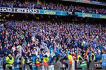 Dublin fans celebrate in the Kerry v Dublin All Ireland Senior Football Final in Croke Park on the 20th September 2015.