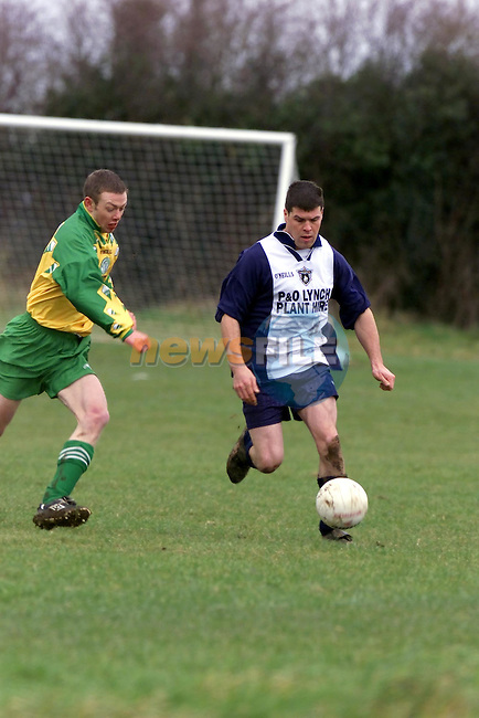 Ardee's Eddie Carr in action against Cloughertown..Picture Fran Caffrey Newsfile.