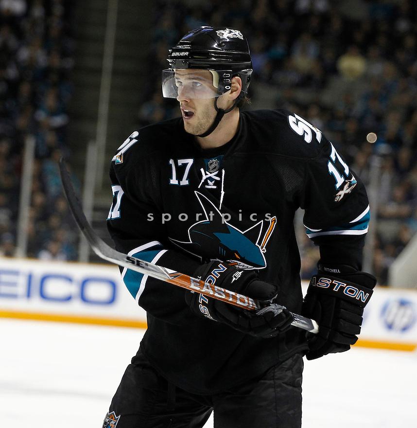 TORREY MITCHELL, of the San Jose Sharks.