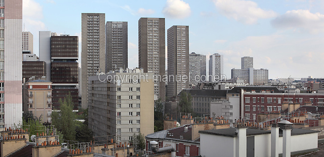 Residential buildings of the 13th arrondissement of Paris, France. Picture by Manuel Cohen
