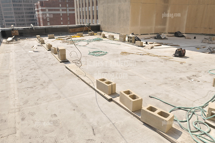 Roof Replacement and Masonry Repairs.  New Haven County Courthouse.  Project No: BI-JD-316A..Architect: Wiss, Janney, Elstner Associates, Inc.    Contractor: Silktown Roofing, Manchester CT..James R Anderson Photography   New Haven CT   photog.com.Date of Photograph: 13 September 2011.Camera View: