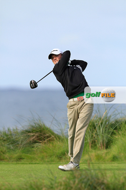 Marc Boucher (Carton House) on the 4th tee during Round 2 of The South of Ireland in Lahinch Golf Club on Sunday 27th July 2014.<br /> Picture:  Thos Caffrey / www.golffile.ie
