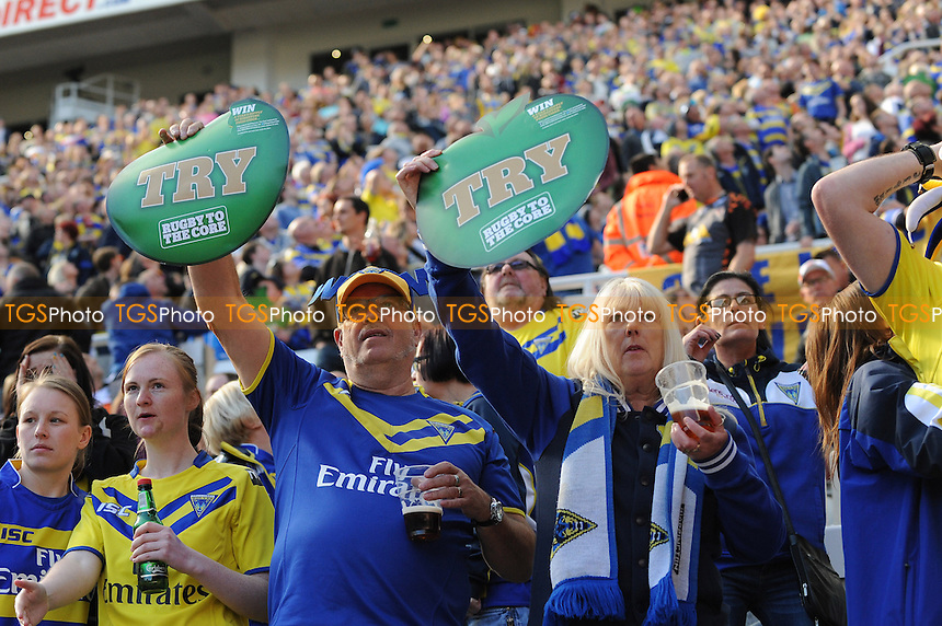Warrington Wolves fans enjoy the day out - Super League Magic Weekend Rugby at St James Park, Newcastle United FC - 31/05/15 - MANDATORY CREDIT: Steven White/TGSPHOTO - Self billing applies where appropriate - contact@tgsphoto.co.uk - NO UNPAID USE