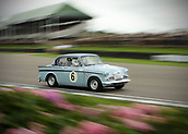 10th September 2017, Goodwood Estate, Chichester, England; Goodwood Revival Race Meeting; A Sunbeam Rapier exits the Goodwood chicane