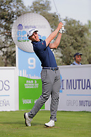 Grant Forrest (SCO) on the 9th tee during the second round of the Mutuactivos Open de Espana, Club de Campo Villa de Madrid, Madrid, Madrid, Spain. 04/10/2019.<br /> Picture Hugo Alcalde / Golffile.ie<br /> <br /> All photo usage must carry mandatory copyright credit (© Golffile | Hugo Alcalde)