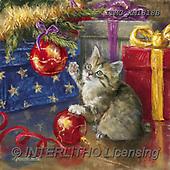 Marcello, CHRISTMAS ANIMALS, WEIHNACHTEN TIERE, NAVIDAD ANIMALES, paintings+++++,ITMCXM1818B,#XA# ,cats