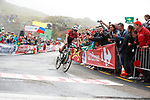 Alberto Contador (ESP) Trek-Segafredo finishes in 2nd place and pulls back some time at the end of Stage 17 of the 2017 La Vuelta, running 180.5km from Villadiego to Los Machucos. Monumento Vaca Pasiega, Spain. 6th September 2017.<br /> Picture: Unipublic/&copy;photogomezsport   Cyclefile<br /> <br /> <br /> All photos usage must carry mandatory copyright credit (&copy; Cyclefile   Unipublic/&copy;photogomezsport)