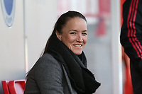 Manchester United Women manager Casey Stone during Brighton & Hove Albion Women vs Manchester United Women, SSE Women's FA Cup Football at Broadfield Stadium on 3rd February 2019