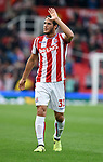 Ramadan Sobhi of Stoke City celebrates at the end of the premier league match at the Britannia Stadium, Stoke. Picture date 19th August 2017. Picture credit should read: Robin Parker/Sportimage