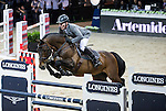 Ludger Beerbaum on Chaman competes during the Airbus  Trophy at the Longines Masters of Hong Kong on 20 February 2016 at the Asia World Expo in Hong Kong, China. Photo by Victor Fraile / Power Sport Images