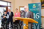 Cllr Pat McCarthy, Cathaoirleach of Kerry  at the formal opening of the 1916 roadshow in Kerins O'Rahilly's Clubhouse on Saturday