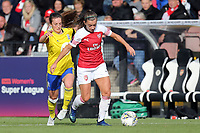 Charlie Wellings of Birmingham City Women  and Danielle van de Donk of Arsenal Women during Arsenal Women vs Birmingham City Ladies, FA Women's Super League Football at Meadow Park on 4th November 2018