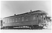 3/4 left rear view of &quot;Camp Bird&quot; at Gunnison depot.<br /> D&amp;RGW  Gunnison, CO  Taken by Maxwell, John W. - 8/11/1934
