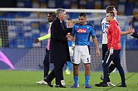 Carlo Ancelotti coach of Napoli and Allan <br /> Napoli 10-12-2019 Stadio San Paolo <br /> Football Champions League 2019/2020 Group E<br /> SSC Napoli - KRC Genk<br /> Photo Cesare Purini / Insidefoto