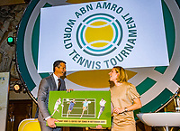 Rotterdam, Netherlands, 09 Februari, 2018, City Hall, Official Draw,  Jolanda Jansen and Richard Krajicek <br /> Photo: Tennisimages/Henk Koster