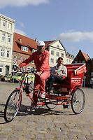 Fahrrad-Rickscha in Lübeck, Schleswig-Holstein, Deutschland
