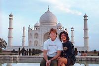 With Farah Rahman at the Taj Mahal, 1990.