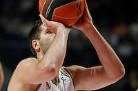 01.04.2012 SPAIN - ACB match played between Real Madrid vs Unicaja  at Palacio de los deportes stadium. The picture show Felipe Reyes Cabanas (Spanish center of Real Madrid)