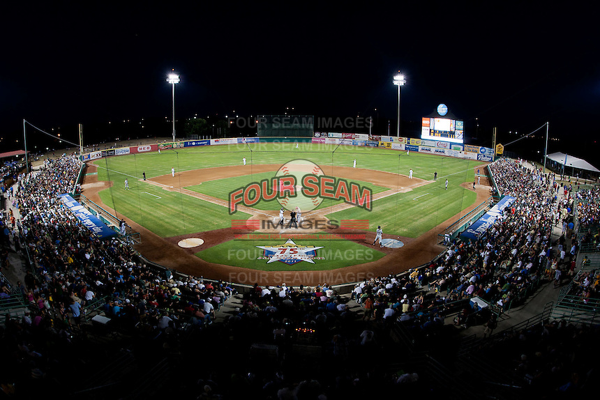 A view of Nelson Wolff Stadium during a game between the North All-Stars and the South All-Stars 2011 in the Texas League All-Star game at Nelson Wolff Stadium on June 29, 2011 in San Antonio, Texas. (David Welker / Four Seam Images)