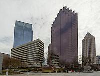 Skyscrapers in the Midtown district of Atlanta Georgia.