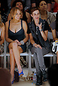 Lindsay Lohan and Samantha Ronson at the NY Fashion Week at Bryant Park on Sept 05,2008.(Soul Brother For Evian)