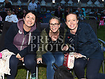 Sinead McKenna, Debbie Longmore and Amy Dobson at the outdoor cinema in Inse Bay Laytown. Photo:Colin Bell/pressphotos.ie