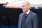Real Madrid coach Zinedine Zidane during La Liga match between Real Madrid and R. C. Deportivo at Santiago Bernabeu Stadium in Madrid, Spain. January 18, 2018. (ALTERPHOTOS/Borja B.Hojas)